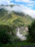 赤道雨林瀑布 图库摄影
