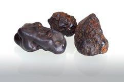 赤铁矿小卵石 库存图片