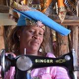 赫勒娄族妇女纳米比亚 图库摄影