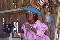 赫勒娄族妇女纳米比亚 库存图片