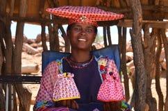 赫勒娄族妇女,纳米比亚 免版税图库摄影