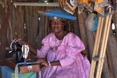 赫勒娄族妇女,纳米比亚 图库摄影