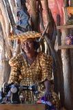 赫勒娄族妇女,纳米比亚 免版税库存照片