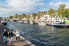 赫勒富茨劳斯港口在荷兰 免版税库存图片