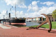 赫勒富茨劳斯港口,荷兰 免版税库存图片