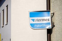 赫姆斯Paketshop 免版税库存图片