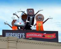 赫尔希` s巧克力世界 免版税库存照片