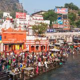 赫尔德瓦尔在印度 免版税库存照片