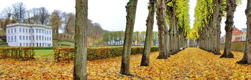 赫尔新哥Marienlyst城堡全景 图库摄影