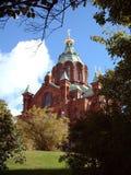 赫尔辛基俄语寺庙 免版税图库摄影