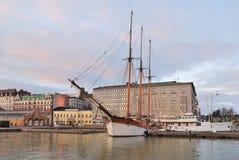 赫尔辛基在12月早晨 图库摄影