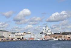 赫尔辛基地平线 图库摄影
