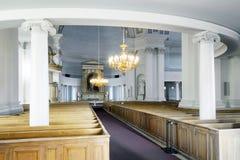 赫尔辛基大教堂内部  免版税库存图片