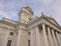 赫尔辛基大教堂在秋天 免版税图库摄影