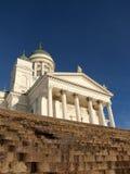 赫尔辛基大教堂步 免版税库存照片