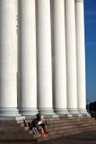 赫尔辛基大教堂的专栏 免版税库存图片