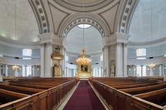 赫尔辛基大教堂,芬兰内部  库存图片