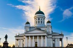 赫尔辛基大教堂,芬兰 免版税图库摄影