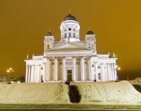 赫尔辛基大教堂 免版税图库摄影