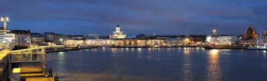 赫尔辛基晚上 免版税图库摄影