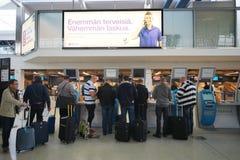 赫尔辛基机场内部 免版税库存照片