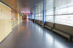 赫尔辛基机场内部 免版税库存图片