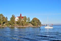 赫尔辛基海岛luoto 免版税库存照片