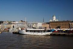 赫尔辛基港口,芬兰 免版税图库摄影