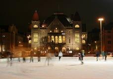 赫尔辛基滑冰 库存照片