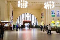 赫尔辛基火车站内部 免版税库存图片
