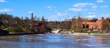 赫尔辛基老与氢结合的电力驻地 库存图片