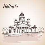 赫尔辛基路德教会的大教堂-赫尔辛基,芬兰 皇族释放例证