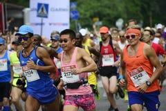 """赫尔辛基,芬兰†""""2017年8月12日:赫尔辛基市马拉松, 1 免版税库存图片"""