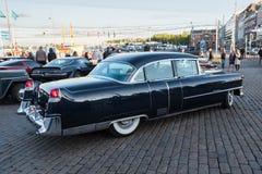 赫尔辛基,芬兰老汽车卡迪拉克 库存图片