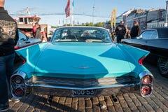 赫尔辛基,芬兰老汽车卡迪拉克 图库摄影