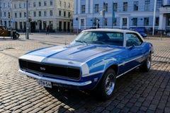赫尔辛基,芬兰老汽车雪佛兰Camaro SS 免版税库存照片