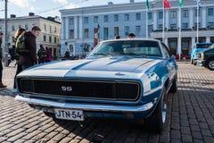 赫尔辛基,芬兰老汽车雪佛兰Camaro SS 350 免版税图库摄影