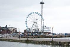 赫尔辛基,芬兰2015年12月21日-弗累斯大转轮赫尔辛基港  库存照片