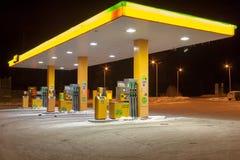 赫尔辛基,芬兰- 11月12 :汽车加油站ABC, FINLAND-NOVEMBER 12 2016年 免版税库存照片