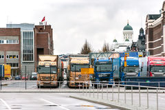 赫尔辛基,芬兰- 10月25 :轮渡公司北欧海盗线的终端设施在Helsinkii,芬兰2016年10月25日 免版税图库摄影