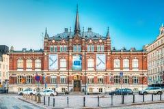 赫尔辛基,芬兰 芬兰设计博物馆或Designmuseo大厦 图库摄影