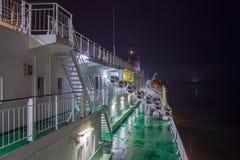 赫尔辛基, FINLAND-JANUARY 5 :轮渡北欧海盗线被停泊在 图库摄影