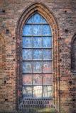 赫尔辛堡教会窗口 库存图片