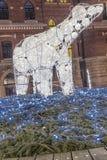赫尔辛堡梦想点燃北极熊 免版税库存图片