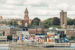 赫尔辛堡港口 库存照片