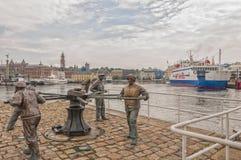 赫尔辛堡水手纪念碑 免版税库存图片