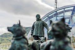 赫尔默Hanssen纪念碑在特罗姆瑟,挪威 库存图片