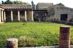 赫库兰尼姆废墟,埃尔科拉诺意大利 库存图片