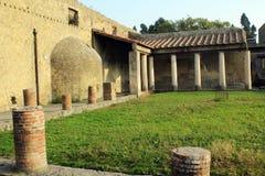 赫库兰尼姆废墟,埃尔科拉诺意大利 库存照片