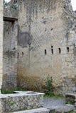 赫库兰尼姆考古学站点,褶皱藻属,意大利 库存照片